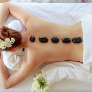 Massagem - Massagem com pedras quentes